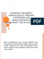 JOURNAL READING Prevalence, Trends, Patterns and Associations of Analgesic Use in Germany