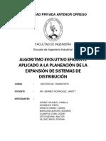 Algoritmo Evolutivo Eficiente Aplicado a La Planeación de La Expansión de Sistemas de Distribución
