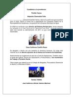 Candidatos a La Presidencia de guatemala 2019