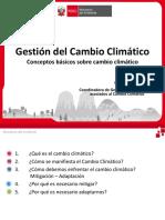 GESTION DE CAMBIO CLIMATICO