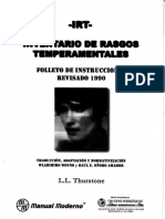Inventario de Rasgos Temperamentales IRT