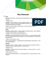 Plan Nutricional 2