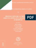 CUADERNOS DE LITERATURA GRIEGA Y LATINA ( PROYECCIÓN DE LA MITOLOGÍA GRECO-LATINA EN LAS LITERATURAS EUROPEAS ) . LIBROS DE LA BIBLIOTECA PRIVADA DEL CÓNSUL DE ROMA.
