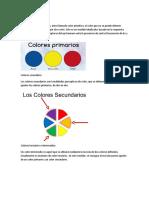 Colores Primario Secundarios Terciarios y Neutrales