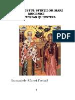 Acatistul Sf. Mari Mucenici Ciprian Si Iustina