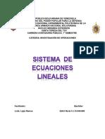 Informe Sistema de Ecuaciones Lineales