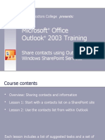 Microsoft® Office - Outlook 2003 Presentation #9 - Share contacts