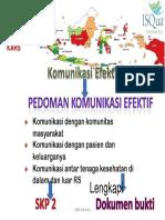 MKE SNARS Pedoman Komunikasi Efektif