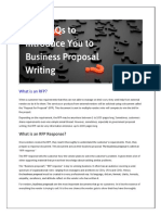 Five FAQs To Introduce You To Business Proposal Writing