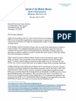 Mnuchin Letter Re Tariff Costs