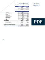 income statement - brillare - singlestep  1