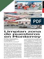 23-05-19 Limpian zona de puesteros en Monterrey