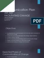 AET 560 Communication Plan Final