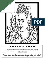 Frida Kahlo colorear