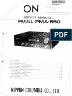 Denon PMA 550 Service Manual