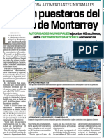 23-05-19 Retiran puesteros del Centro de Monterrey