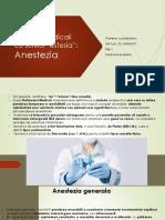 Terminologie Anestezia
