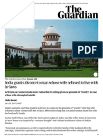 India grants divorce to man whose wife refused to live with in-laws _ Global development _ The Guardian.pdf
