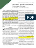 [3] Multiclass Brain–Computer Interface Classification by Riemannian Geometry