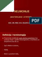 infektologijaBakterijske Pneumonije