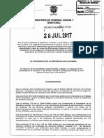 Decreto 1272 Del 28 de Julio de 2017
