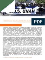 PRESUPUESTO UNAH 2019