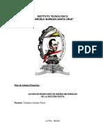 Informe de Levantar Inventario de Bienes Materiales