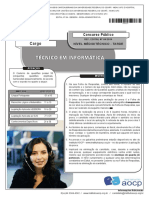 Instituto Aocp 2014 Ufc Tecnico Em Informatica Prova
