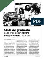 """Club de grabado en la crisis de la """"cultura independiente"""" (1973-1989)"""