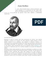 Biografía de Juan Bodino