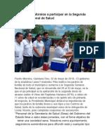Invita Puerto Morelos a Participar en La Segunda Semana Nacional de Salud