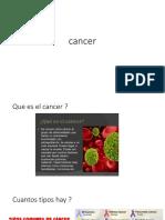Que es el cancer..presentación power point
