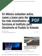 México_ Subastan Autos, Casas y Joyas en Instituto Para Devolverle Al Pueblo Lo Robado _ CNN