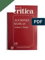 Acciones Básicas Arthur Danto Crítica