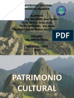Realidad Nacional Patrimonio Cultural