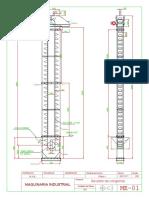 Elevador de Cangilones-Plano 1 - A3H - Mm