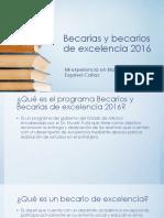 Becarias y Becarios de Excelencia 2016