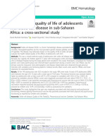 Health-related quality of life of adolescents with sickle cell disease in sub-Saharan Africa