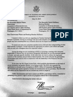Ben Carson's letter to lawmakers.