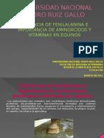 Deficiencia de Fenilalanina en Equinos Luis Vera ZEgarra