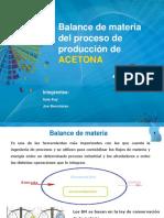 Presentación ACETONA - Balance de Materia