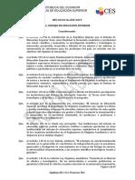 RRA Reglamento de Regimen Academico