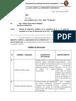 Informe de Diagnostico Academico 2019