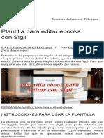 Plantilla Para Editar eBooks Con Sigil (Celia Añó)