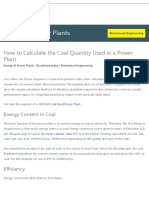How to Calculate the Coal Quantity Used in a Power Plant