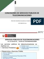 CONCESIONES DE SERVICIOS PÚBLICOS DE TELECOMUNICACIONES