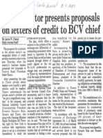 Edgard Romero Nava - Private Sector Presents Proposals on Letters of Credit to BCV Chief - The Daily Journal 08.09.1989