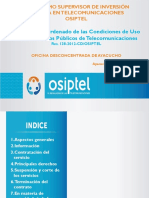 Texto Único Ordenado de las Condiciones de Uso de los Servicios Públicos de Telecomunicaciones Res. 138-2012-CD/OSIPTEL