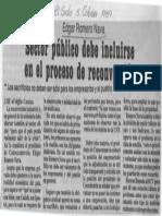 Edgard Romero Nava - Sector Publico Debe Incluirse en El Proceso de Reconversion - Diario El Siglo 05.10.1989