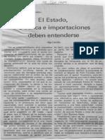 En El Pago de Las Cartas de Credito El Estado La Banca e Importaciones Deben Entenderse - Olga Carrillo - Diario Meridiano 12.09.1989